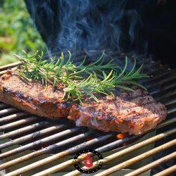 Das Steak vom Anzündkamin